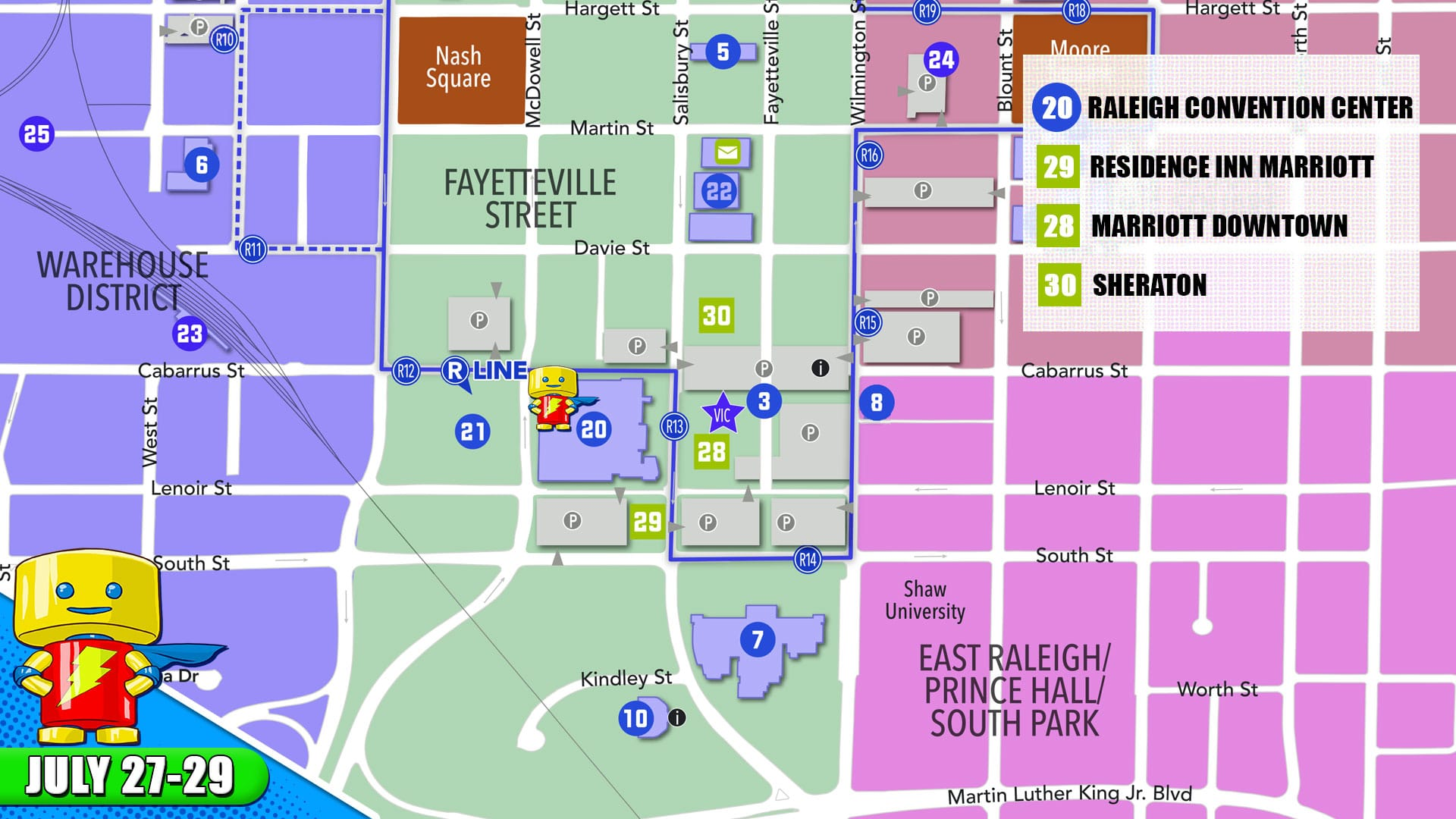 Parking and Directions - RALEIGH SUPERCON