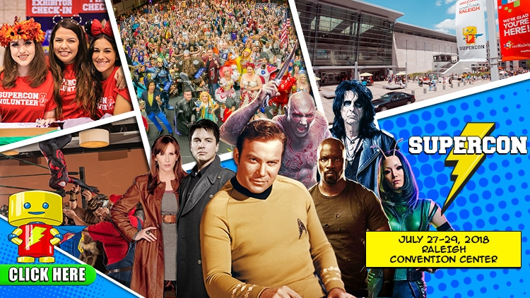 ENTER to WIN a Pair of Weekend Passes to Raleigh Supercon